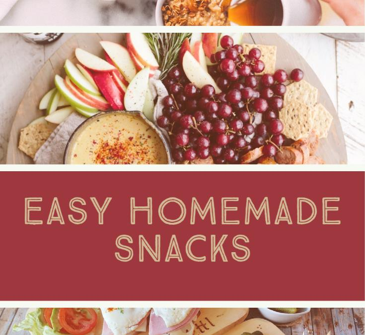 Homemade Snacks – Delicious, Nutritious and Save Money